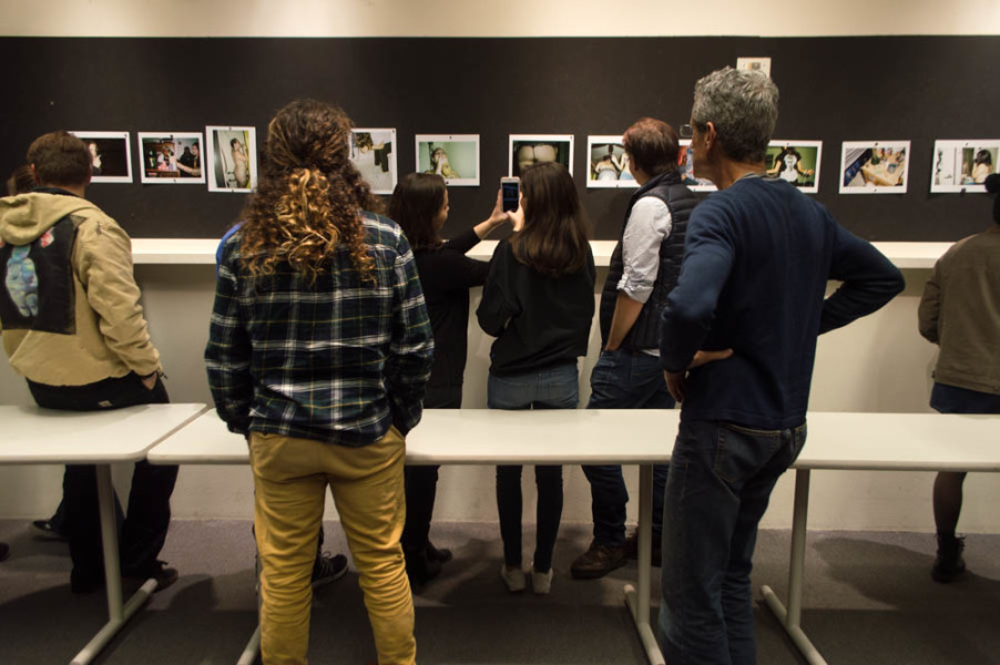A diverse community of students and professors help senior photography majors as they develop projects for their senior thesis, such as this untitled project by Carolina Long. Photo by Jennifer Rapinchuk.