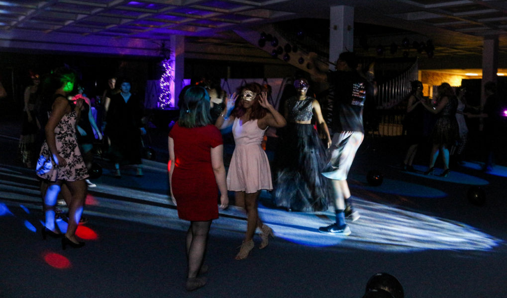 Students dancing to the beat of music in The Masquerade Ball. Photo by Hawie Reyne Veniegas
