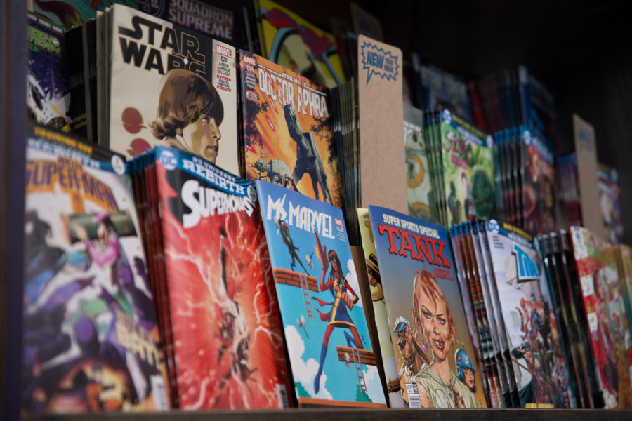 Big Adventure Comics has many comics to browse through. Photo by Jason Stilgebouer