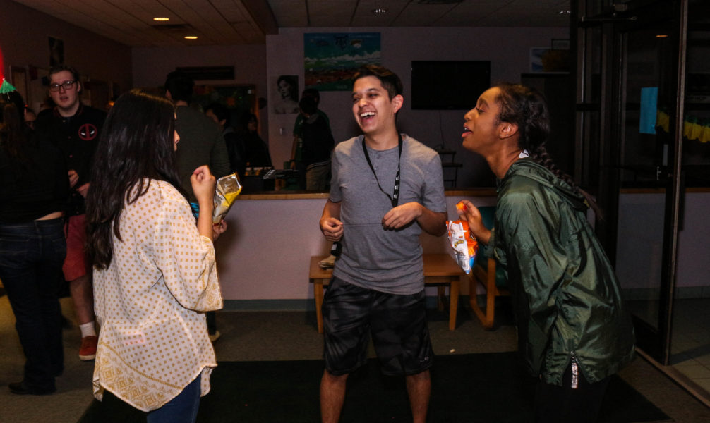 Carlos Moreno bonds with his friends in the drug/alcohol awareness event held by Student Life. Photo by Hawie Reyne Veniegas.