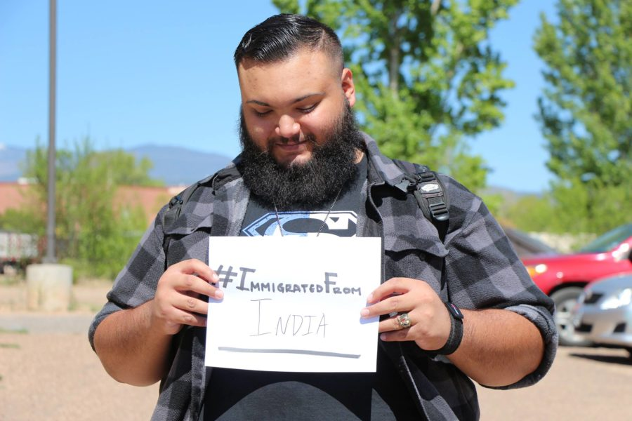 Noell Fredericksen participates in the hashtag movement #immigratedfrom