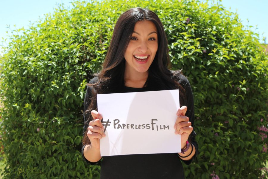 Amy Puente participates in the hashtag movement #immigratedfrom