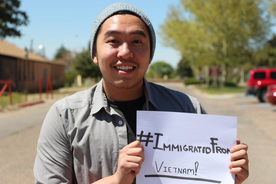 Philip Hoang participates in the hashtag movement #immigratedfrom