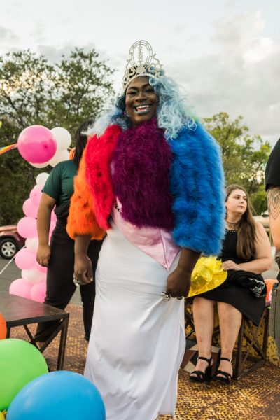 Coco Caliente aka Malcom Morgan is excited for the parade to begin. Photo by Sasha Hill