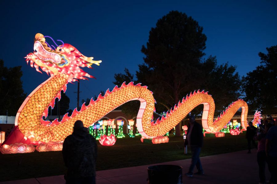 A huge dragon is the center piece at the Chinese Lantern Festival. Photo by Chris Dorantes
