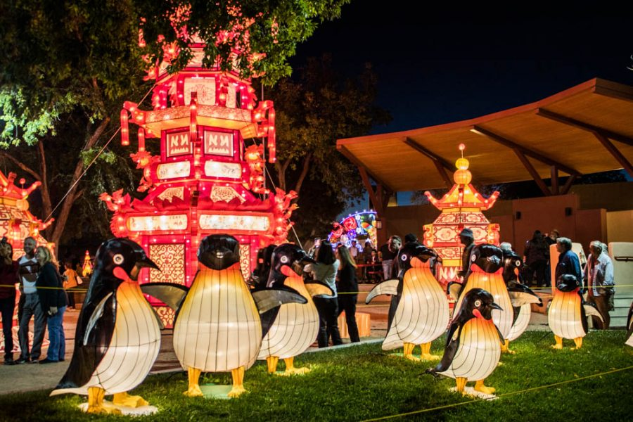 Penguins welcome you to the Chinese Lantern Festival. Photo by Chris Dorantes