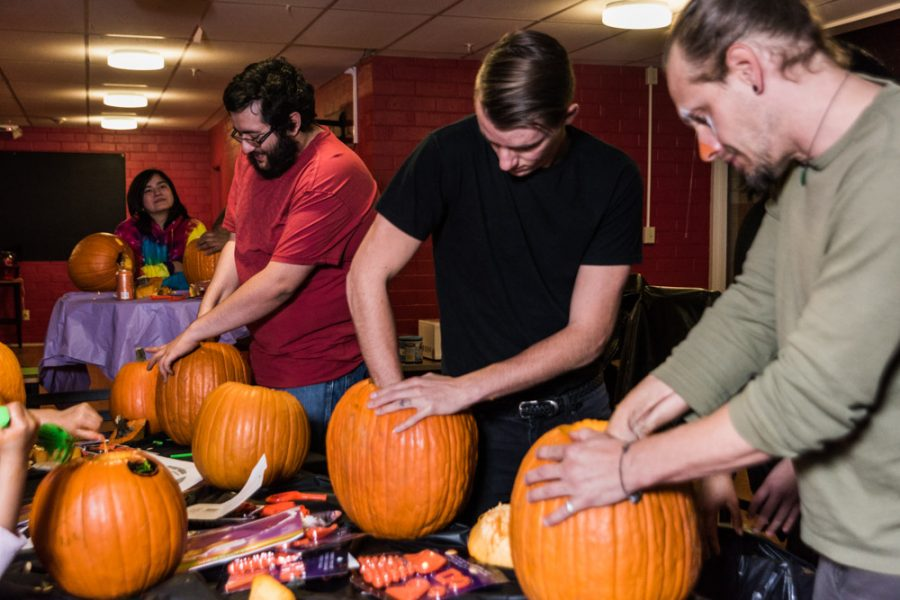 Time to take out the pumpkin guts. Photo by Sasha Hill