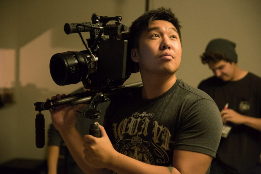 "Santa fe University of Art and Design senior Philip Hoang is the cinematographer in the student-produced film ""Hear Me Out."" Photo by Jason Stilgebouer"