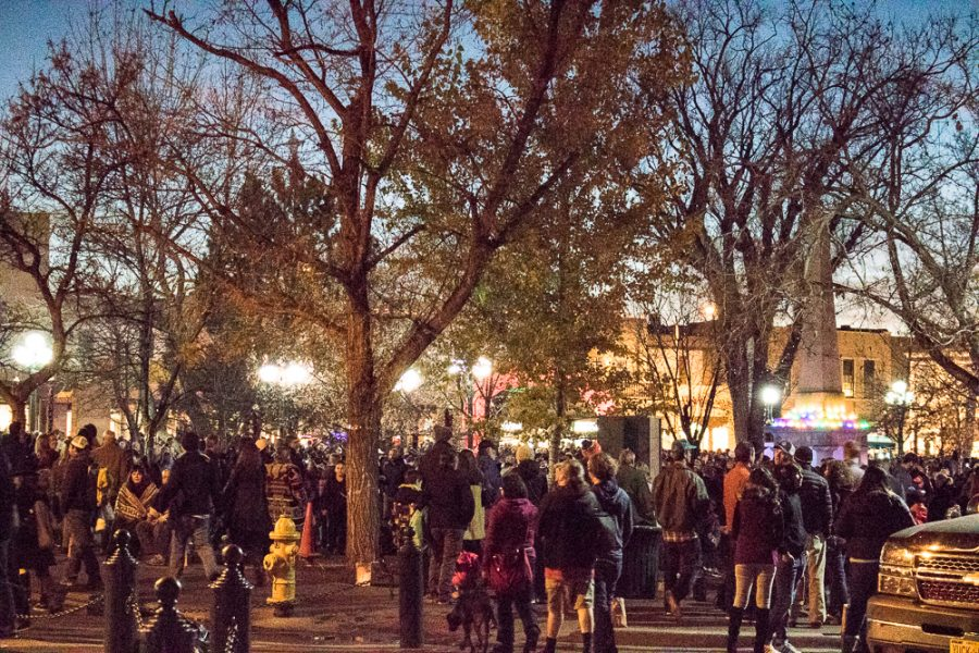 Crowds gather in anticipation of the lighting ceremony. Photo by Chris Dorantes