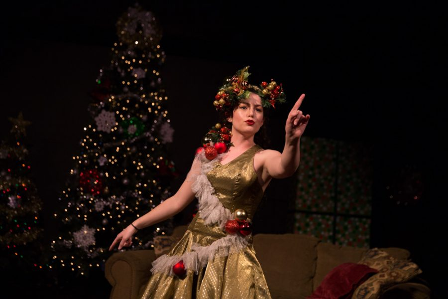The unique character 'spirit of Christmas' is performed by Audrey Clark. photo by Jason Stilgebouer