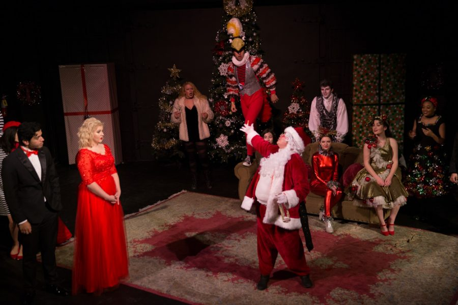 'The Semi-Amazing, Sort of Sensational, Almost Unbelievable Christmas Spectacular' will be the last production of the semester for the performing arts department. Photo by Jason Stilgebouer