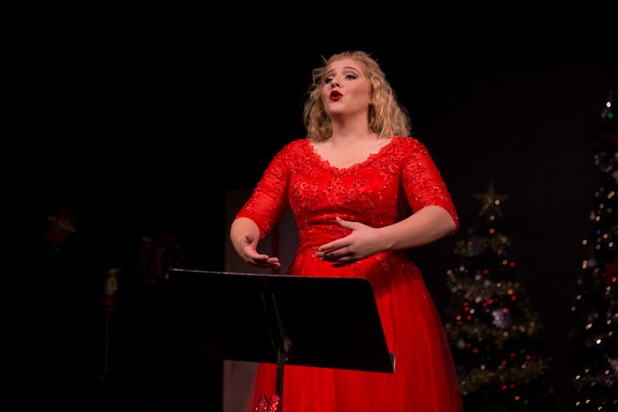 Kayla Marie Casiano performs as one of the main characters in the 'The Semi-Amazing, Sort of Sensational, Almost Unbelievable Christmas Spectacula.r' photo by Jason Stilgebouer .