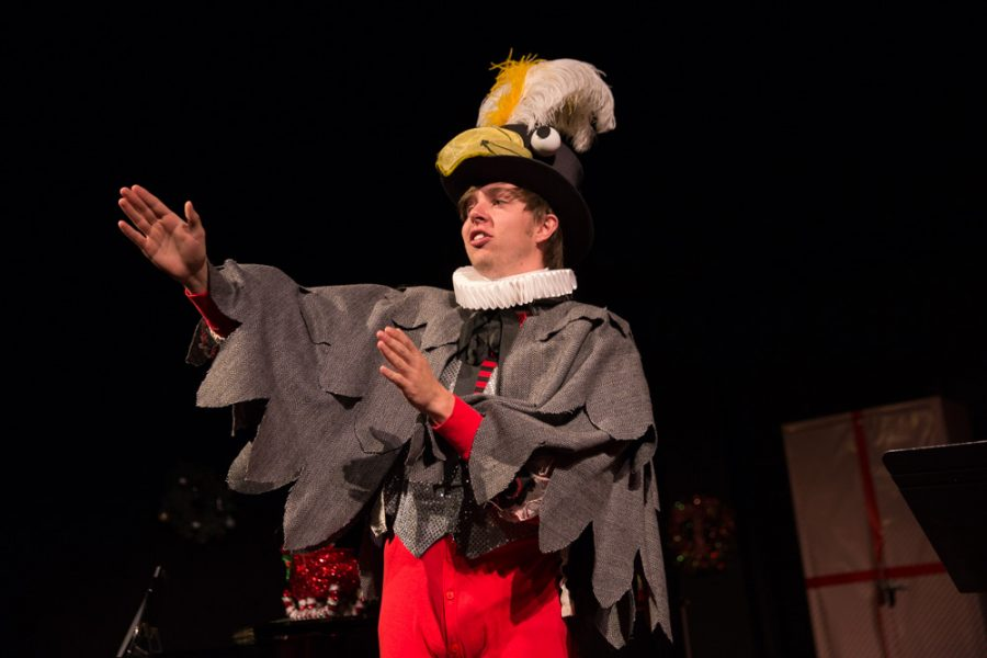 Isaac Tipton Synder has a unique comical character as a penguin during the 'The Semi-Amazing, Sort of Sensational, Almost Unbelievable Christmas Spectacular' photo by Jason Stilgebouer.