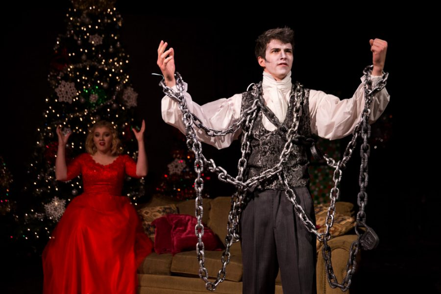 Liam O' Brien character was covered in chains in the 'The Semi-Amazing, Sort of Sensational, Almost Unbelievable Christmas Spectacular.' Photo by Jason Stilgebouer